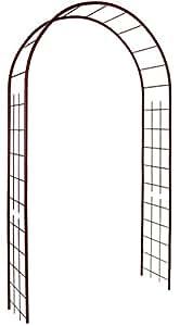 Louis Moulin 3146 Arche Jardin avec Décor Treillage Métal Fer Vieilli 130 x 250 cm