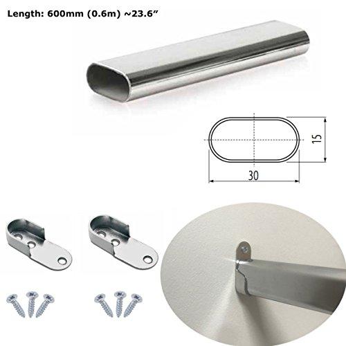 MKGT® - Armario de barra ovalada con tubo de metal pulido para...