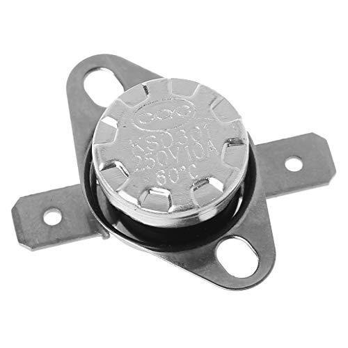 Qiuxiaoaa Interruttore di Controllo della Temperatura del termostato, 5 Pezzi Normalmente Chiuso termostato Interruttore di Controllo della Temperatura Interruttore del sensore Termico, 60 ℃