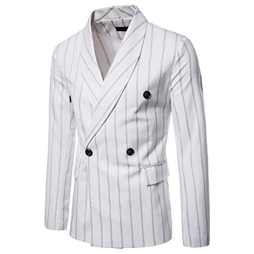Businessjacke VENMO Herren Langarm Gestreift Beiläufiger Stilvoller Anzug Jacken Mantel Blazer Geschäft Anzugjacken Männer Passform Lange Ärmel Passen Mantel Übergangsjacke Mantel