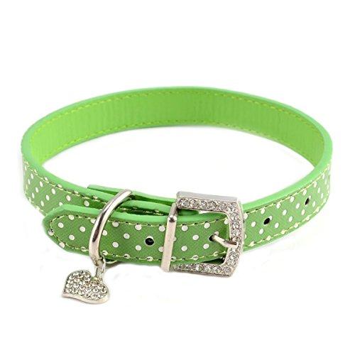 BbearT Hundehalsband, Herz-Anhänger aus Strass, für kleine Hunde, mittelgroße Hunde, Welpen,...