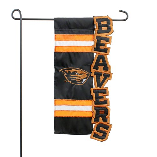 Oregon State University Beavers Applique Sculpted Garden Flag -