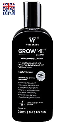 Best Hair Growth Shampoo Sulfate Free, Caffeine, Biotin, Argan Oil, Allantoin, Rosemary. Stimulates hair re-growth, Helps Stop Hair Loss, Grow Hair Fast, Hair Loss Treatment for Men & Women