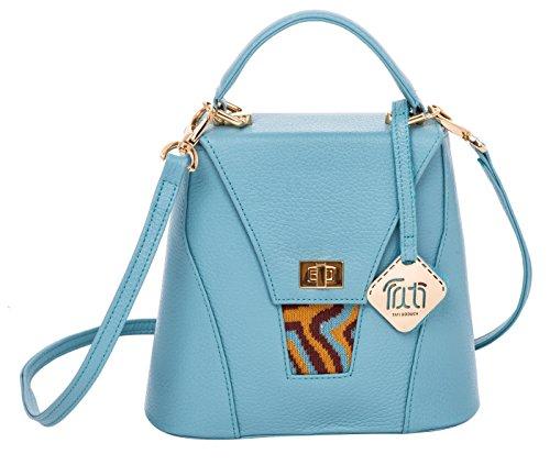 TATI Boduch sacchetto del progettista per le donne, il modello: AGATE (Giallo) Blu