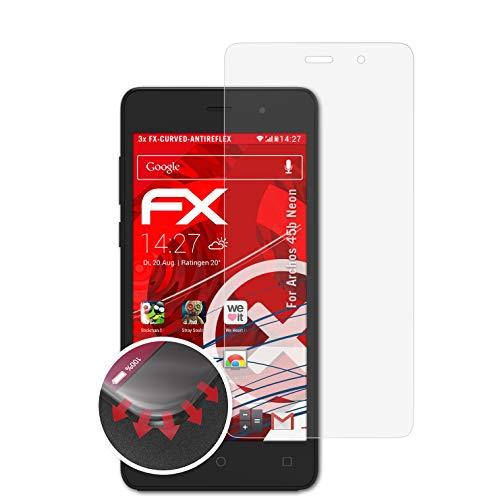 atFolix Schutzfolie passend für Archos 45b Neon Folie, entspiegelnde & Flexible FX Bildschirmschutzfolie (3X)