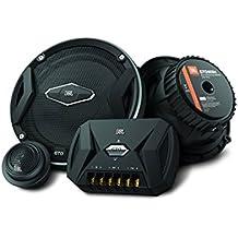 JBL Car GTO 609C - Sistema de altavoces de componentes (2-vías, 6.5 pulgadas, 2 conos de rango medio, 2 conos de agudos/Tweeters), color negro