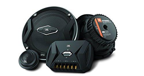JBL Car GTO 609C 6,5' (165 mm) 270 Watt 2-Wege Auto-Hifi Komponenten-Lautsprechersystem Inkl. 1 Paar Mittelton-Lautsprecher, 1 Paar Hochtöner, 1 Paar Frequenzweichen sowie Abdeckungen - Schwarz