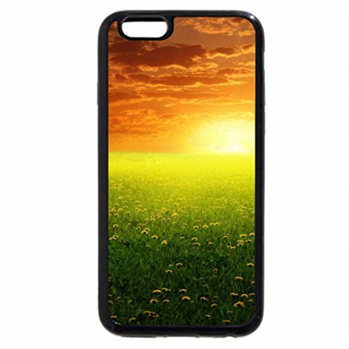 iPhone 6S / iPhone 6 Case (Black) Daisy Field Glow