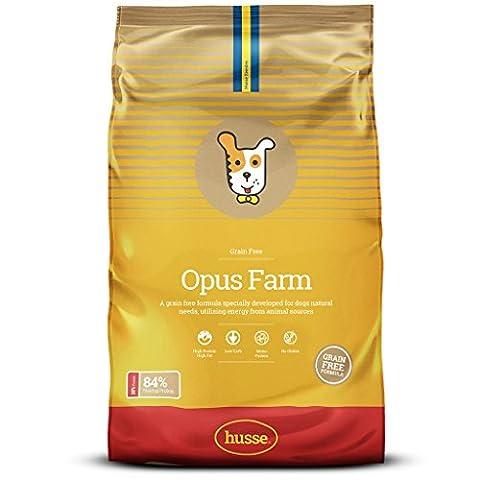 Husse Opus Farm Grain & Gluten Free Chicken & Potato Super Premium Dry Dog Food Kibble (12kg)
