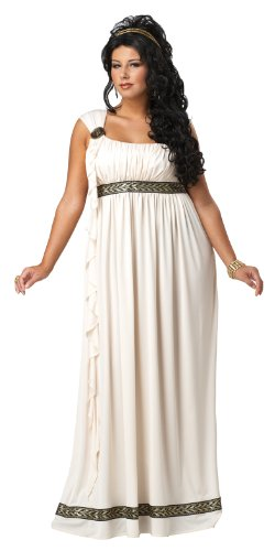 Plus Size Olympic Goddess Fancy Dress Greek Grecian Ladies Olympia Roman Costume by Mega Fancy (Kostüme Plus Halloween Size 3x)