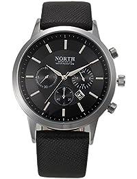 FEITONG - Reloj deportivo para Hombres de Negocios, de lujo, para hombre, correa de cuero, analógico, de cuarzo
