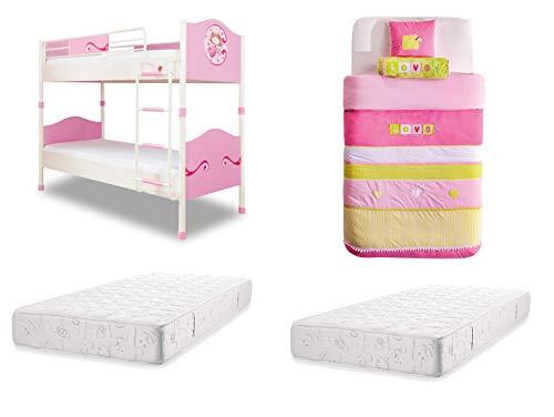 Cyndie 2pcs Accesorios De Dormitorio De Dos Pisos Cama Litera Cute