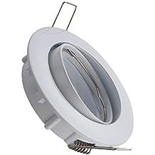 Aro Downlight Circular Basculante para Bombilla LED GU10 / GU5.3 Blanco efectoLED