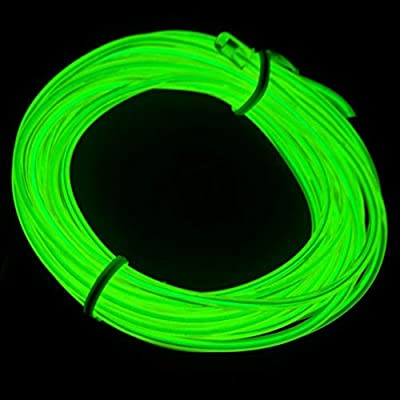 MuLucky EL Wire Tube Rope Battery Powered Flexible Neon Light Car Party Wedding Decoration With Controller