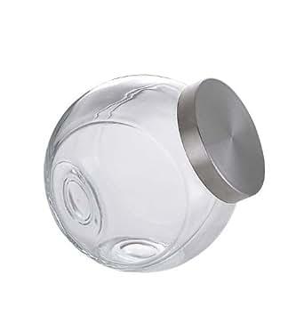 Bormioli Rocco Giara bomboniera con coperchio in acciaio inox spazzolato 2,2 litri, 1 Pezzo