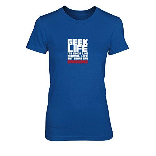 Geek Life - Damen T-Shirt Blau