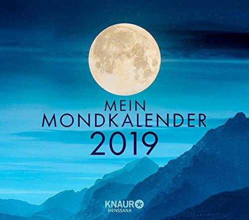 Mein Mondkalender 2019: Abreißkalender zum Aufstellen u. Aufhängen, m. täglichem Kalenderblatt & Inspirationen für jeden Tag, Informationen zu ... Namenstagen u. Jahresfesten, 13,0 x 11,5 cm