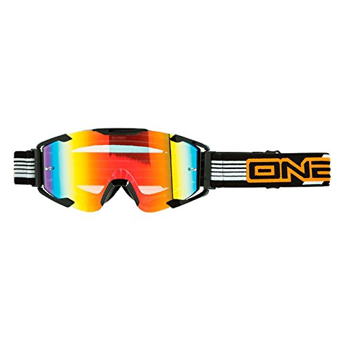 ONeal B-Flex Goggle LAUNCH Weiß Moto Cross MX Brille MTB Mountainbike Motorrad