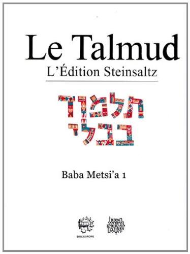 Le Talmud l'Edition Steinsaltz 08 Babli Baba Metsia T1