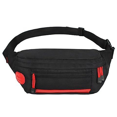 Ryaco [Große Taschen] R907 Sport Gürtellinie Pack, Outdoor Sports Hüfttaschen, Gürteltasche, Laufgürtel, Übung Laufband, Fitness Workout Gürtel, Rennen Gürtel für Wandern, Klettern