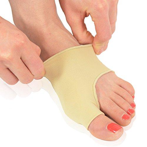 Medical Gel-pads (Dr. Frederick's Original Gel Pad Zeh Manschette - 2 Füsslinge Für Ballenzeh Schmerzlinderung - Pre- und/oder Postoperativ - Zum Tragen im Schuh - Klein - Größe 35-39 / (U.S. Größen W 5-7.5 / M 4.5-6))