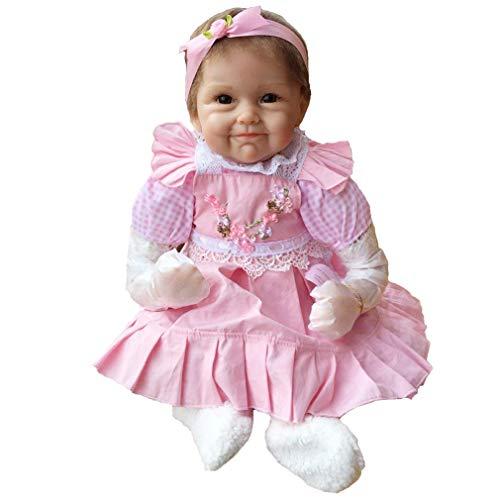 a1862ec57a NPK 55CM Reborn baby doll muñeca realista del bebé los niños hechos a mano  regalo del bebé renacer de la muñeca de silicona suave Simulación de vinilo  de ...