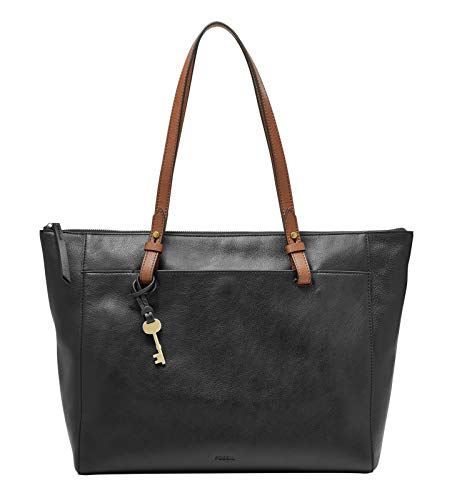 Fossil Damen Handtasche Tasche Shopper Rachel Tote Leder Schwarz ZB7507-001 - Damen-fossil Handtaschen
