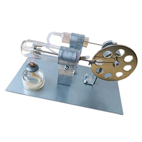 B Blesiya Modelos Stirling Engine Física Combustión Eléctrica Combustible Suministro de Laboratorio de Aleación de Vidrio - A