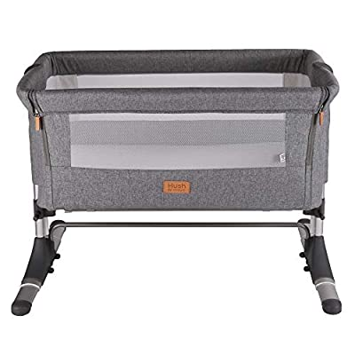 Venture Hush Bedside Crib - Anthracite Grey