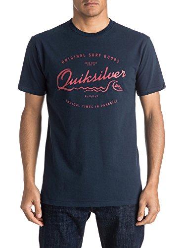 Quiksilver Men's ad ovest molo schermo-Maglietta a maniche corte, taglia M, colore: blu
