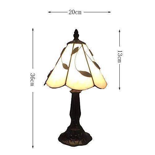 GBX Schöne und kreative Augenschutzlampe, Wymi 8-Zoll-Tiffany-Stil-Blatt-Glas-Tischlampe Retro-Harz-Lampenhalter-Multicolor-Artdesign-Licht-Schlafzimmer-Restaurant-Bar-Hotel-Nachttischbefestigungen -