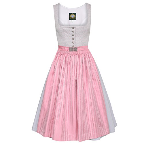 Hammerschmid Damen Trachten-Mode Midi Dirndl Pillersee in Grau traditionell