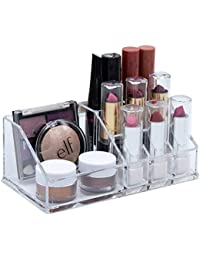 Cosmetic Make Up Clear Acrylic Lipstick Nail Paint Organizer with 9 Sections
