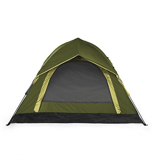 Lumaland Outdoor leichtes Pop Up Wurfzelt 3 Personen Camping robust verschiedene Farben Grün -