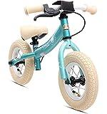 BIKESTAR Bicicletta Senza Pedali 2 - 3 Anni per Bambino et Bambina ★ Bici Senza Pedali Bambini con Freno 10 Pollici Sportivo ★ Turchese