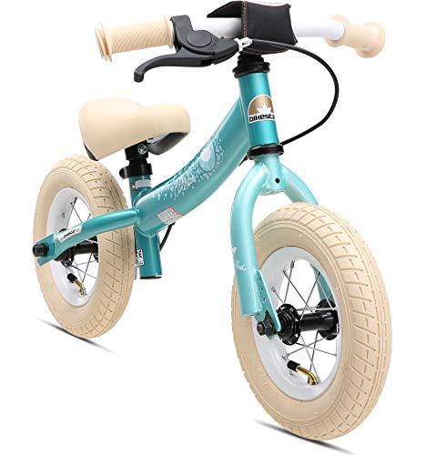 BIKESTAR Kinder Laufrad Lauflernrad Kinderrad für Jungen und Mädchen ab 2-3 Jahre ★ 10 Zoll Sport Kinderlaufrad ★ Türkis