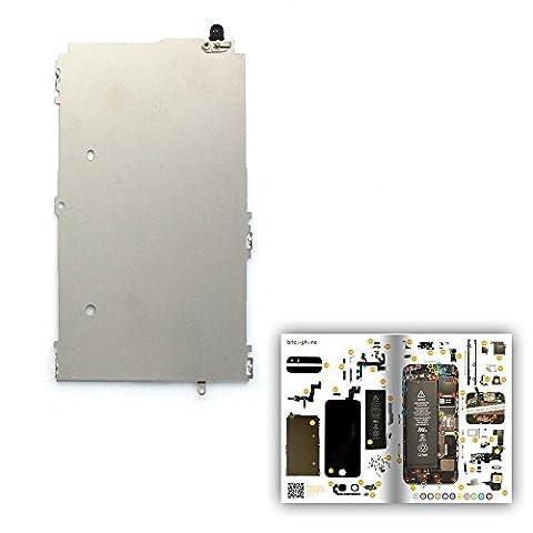 Plaque de support métallique LCD pour iPhone 5S avec patron papier d'aide au montage offert