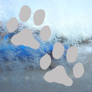 Dog Paw Prints Grigio Car Truck Bumper