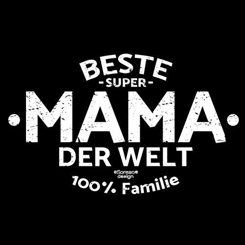 Damen Geschenk zum Muttertag oder Geburtstag Girlie Fun T-Shirt in Größen bis XXL und Print Aufdruck Beste Mama der Welt Farbe: schwarz Schwarz