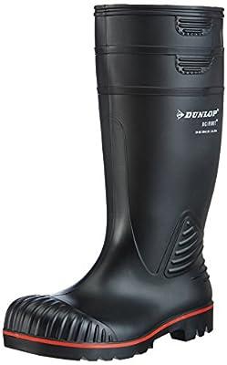 Dunlop A442031 S5 ACIF. KNIE ZWART 45, Unisex-Erwachsene Halbschaft Gummistiefel, Schwarz (Schwarz(Zwart) 00), 45 EU