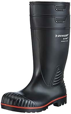 Dunlop A442031 S5 ACIF. KNIE ZWART 40, Unisex-Erwachsene Halbschaft Gummistiefel, Schwarz (Schwarz(Zwart) 00), 40 EU
