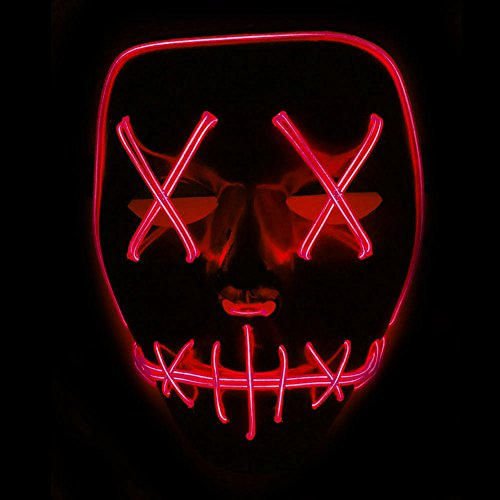 Rokoo LED leuchtet blinkende Schädel Maske Skelett Halloween Rave Party Favor Cosplay