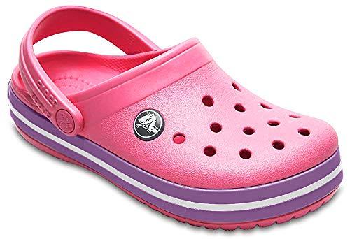 crocs Crocband Clog Kids, Unisex-Kinder Clogs, Pink (Paradise Pink/Amethyst), 30/31