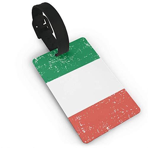 Vintage Italy Flag Duffle Bag Tag Etiqueta del Equipaje Suitcases Label