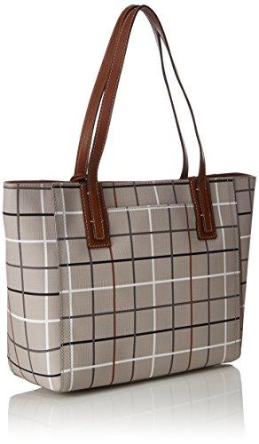 Fossil Damen Tasche Emma-Shopper Schultertasche, 15.2x28.6x31.8 cm Grau (Grey)