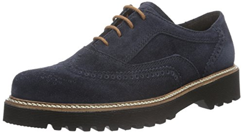 Gabor Shoes 52.665 Damen Derby Schnürhalbschuhe, Blau (ocean (S.S/C) 36), 40.5 EU (7 Damen UK) Oxford Lace Up Pump Schuhe