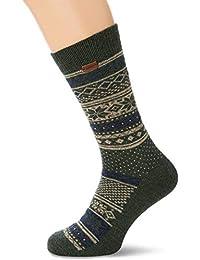 Fat Face Men's Fairisle Wool Blend Christmas Socks