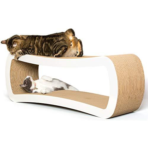 ¿Cansado de comprar productos de los que sus queridos amigos felinos se aburren rápidamente? El Lounge para Arañazos de Gatos de PetFusion tiene la doble función de arañador para gatos y zona de descanso que le asegura que sus quisquillosos acompañan...