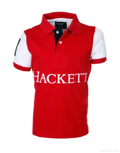 hackett-polo-de-manga-corta-army-chico-color-rojo-talla-14-anos