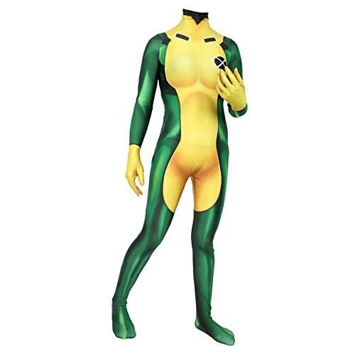 X-Men Little Naughty Raksha Frauen Rogue Cosplay Siamese Hero Tights,Adult-L